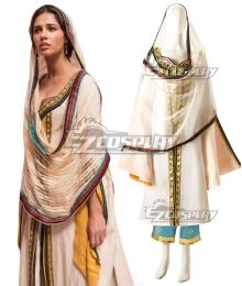 Disney 2019 Movie ALADDIN Princess Jasmine White Cosplay Costume