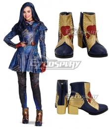 Disney Descendants 2 Evie Golden Cosplay Shoes