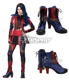 Disney Descendants 3 Evie Blue Red Cosplay Shoes