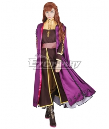 Disney Frozen 2 Anna Cosplay Costume Special Sale
