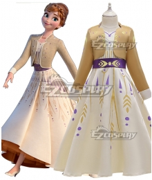 Disney Frozen 2 Anna New Edition Cosplay Costume