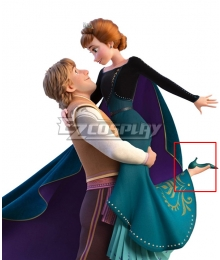 Disney Frozen 2 Anna Queen Green Cosplay Shoes