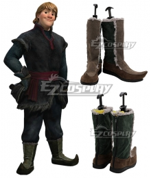 Disney Frozen 2 Kristoff Brown Shoes Cosplay Boots