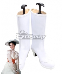 Disney Mary Poppins White Shoes Cosplay Boots