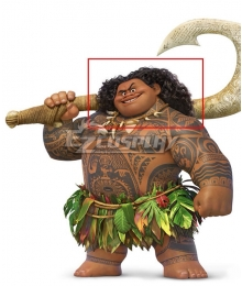Disney Movie Moana Maui Black Cosplay Wig