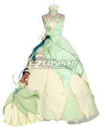 Disney Princess and the Frog Princess Tiana Cosplay Costume