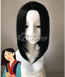 Disney Princess Mulan Black Cosplay Wig