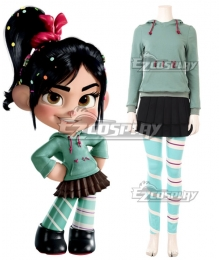 Disney Ralph Breaks the Internet: Wreck-It Ralph 2 Vanellope von Schweetz Cosplay Costume