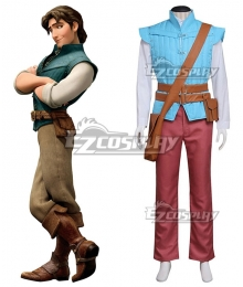 Disney Tangled Prince Flynn Rider Cosplay Costume