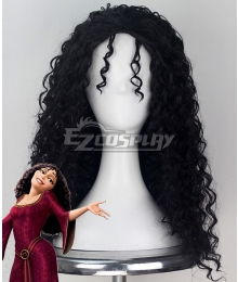 Disney Tangled Tangled Mother Gothel Black Cosplay Wig