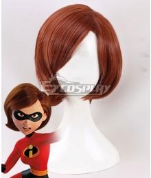 Disney The Incredibles 2 Helen Parr Elastigirl Red brown Cosplay Wig