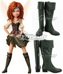 Disney Tinker Bell and the Pirate Fairy Zarina Green Shoes Cosplay Boots