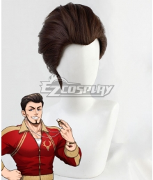 Disney Twisted Wonderland Ashton Vargas Brown Cosplay Wig