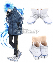 Disney Twisted Wonderland Ignihyde Idia Shroud White Shoes Cosplay Boots