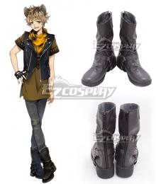 Disney Twisted Wonderland Savanaclaw Ruggie Bucchi Black Shoes Cosplay Boots