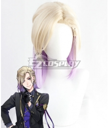 Disney Twisted Wonderland Vil Schoenheit Golden Purple Cosplay Wig