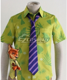 Disney Zootopia Nicholas P. Wilde Fox Nick Tie Cosplay Accessory Prop