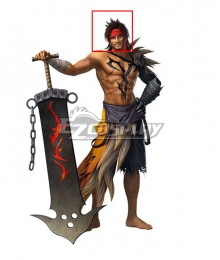 Dissidia Final Fantasy NT Jecht Black Cosplay Wig