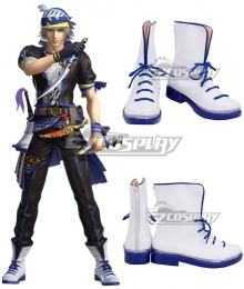 Dissidia Final Fantasy NT Locke Cole White Cosplay Shoes