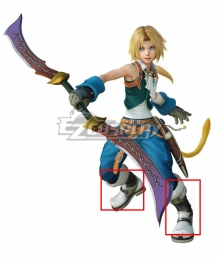 Dissidia Final Fantasy NT Zidane Silver Shoes Cosplay Boots