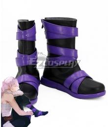 Donten Ni Warau Shirasu Kinjou Black Purple Shoes Cosplay Boots