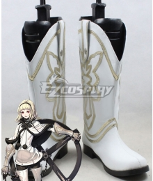 Drag On Dragoon 3 DOD3 One White Shoes Cosplay Boots