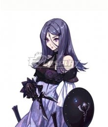 Drag On Dragoon 3 DOD3 Three Purple Cosplay Wig