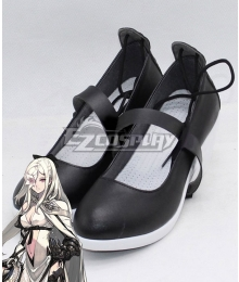 Drag On Dragoon 3 DOD3 Zero Black Shoes Cosplay Boots