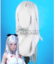 Drag On Dragoon 3 DOD3 Zero Silver Cosplay Wig