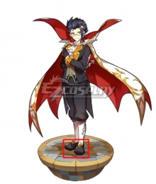 Dragalia Lost Halloween Edward Black Cosplay Shoes