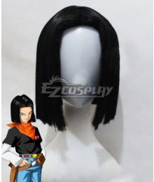 Dragon Ball Android 17 Black Cosplay Wig
