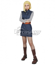 Dragon Ball Android 18 Cosplay Costume - New Edition