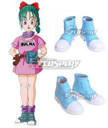 Dragon Ball Bulma Blue Green Cosplay Shoes