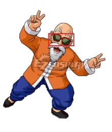 Dragon Ball Master Roshi Red Glasses Cosplay Accessory Prop