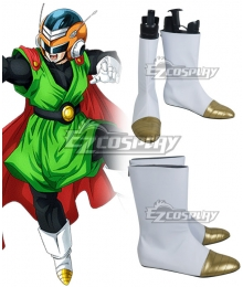 Dragon Ball Son Gohan Super Great Saiyaman Silver Shoes Cosplay Boots