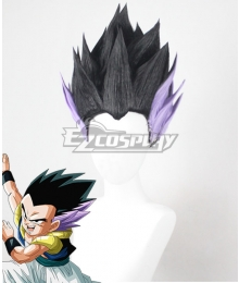 Dragon Ball Super Gotenks Black Purple Cosplay Wig