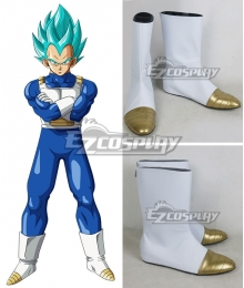 Dragon Ball Super Vegeta White Shoes Cosplay Boots