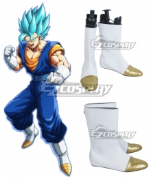 Dragon Ball Super Vegetto SSGSS White Shoes Cosplay Boots
