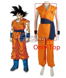 Dragon Ball Super Z Son Goku Kakarotto Cosplay Costume - Only Top