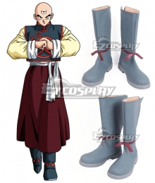 Dragon Ball Tenshinhan Grey Shoes Cosplay Boots
