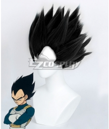 Dragon Ball Vegeta Black Cosplay Wig