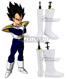 Dragon Ball Vegeta White Shoes Cosplay Boots