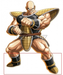Dragon Ball Z Nappa Black Golden Shoes Cosplay Boots