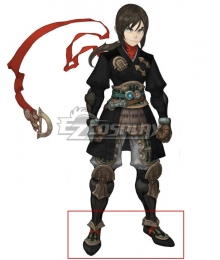 Dragon Nest Assassin Black Cosplay Shoes