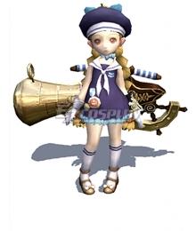 Dragon Nest Blue Boatswain Set Tinkerer Academic Cosplay Costume