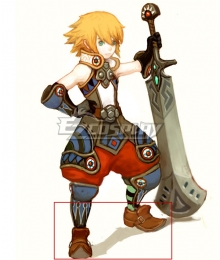 Dragon Nest Warrior Brown Cosplay Shoes