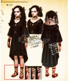 Dragon's Dogma Selene Red Cosplay Shoes