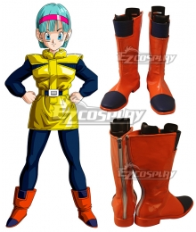 Dragonball Z Bulma Planet Namek Orange Shoes Cosplay Boots