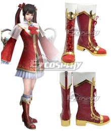 Dynasty Warriors 8 Daqiao Red Shoes Cosplay Boots