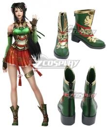 Dynasty Warriors 8 Guan Yinping Green Cosplay Shoes
